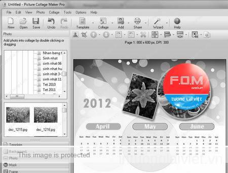 Thiết kế bộ lịch ấn tượng bằng hình ảnh riêng của bạn
