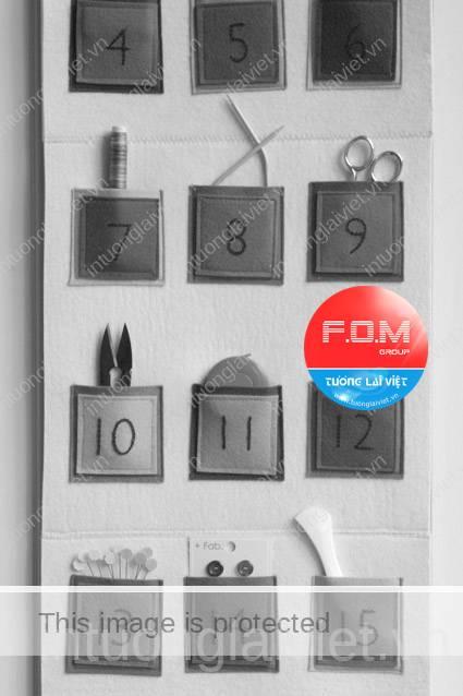 Tự làm lịch treo tường handmade đa sắc màu