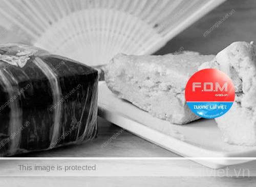 Bánh chưng – món ăn không thể thiếu trong mâm cỗ Tết miền Bắc.