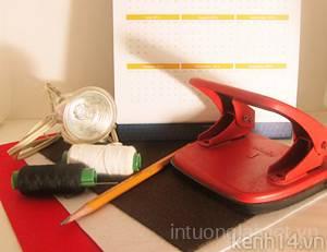 Tự làm đèn ngủ lịch để bàn tặng bạn gái