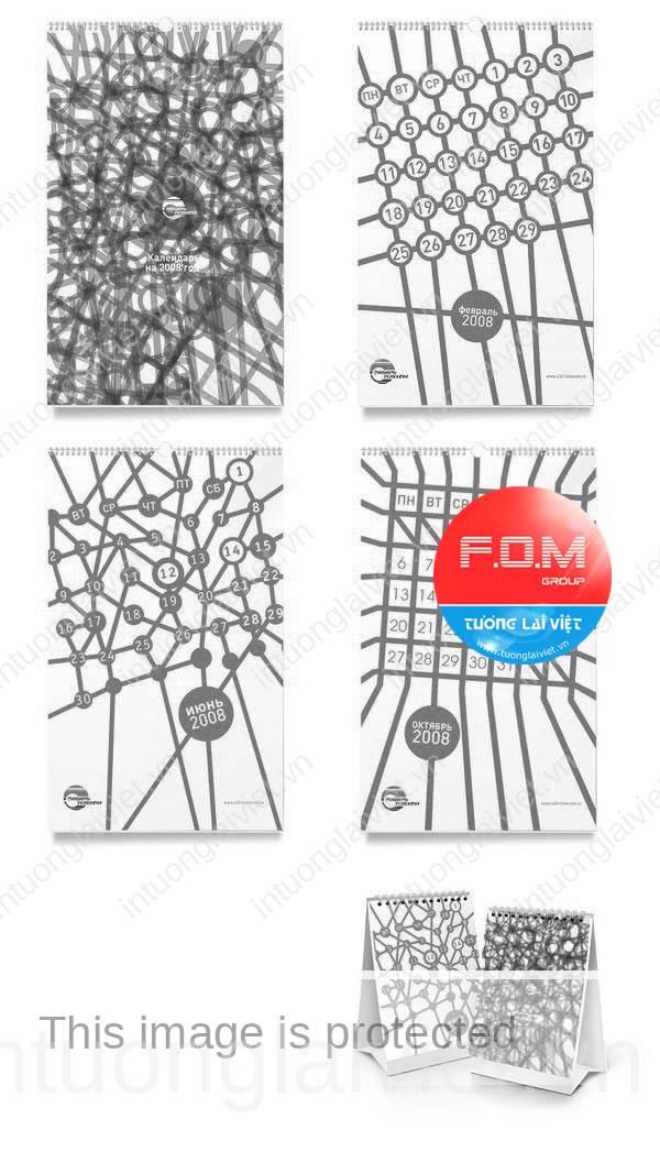10 ý tưởng thiết kế lịch tết 04